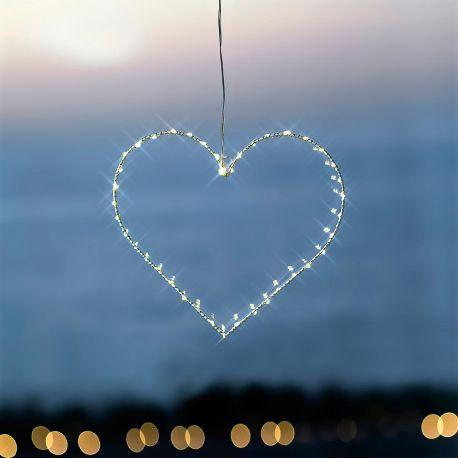 petit cœur lumineux blanc à Led