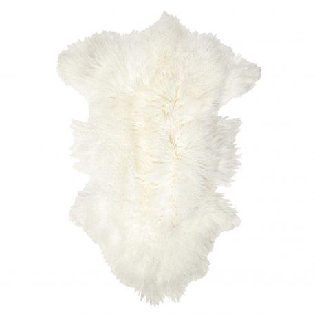 Tapis peau de mouton blanc
