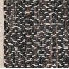 Tapis Kamma Choconoir cuir et coton