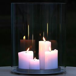 Design glass candle holder