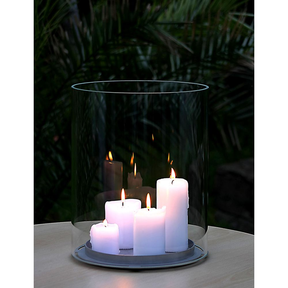 Large Glass Candle Holder Candletube Opossum Design
