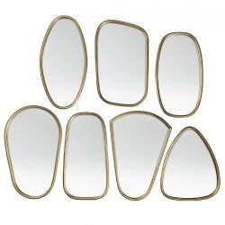 7 brass mirrors frames by Broste