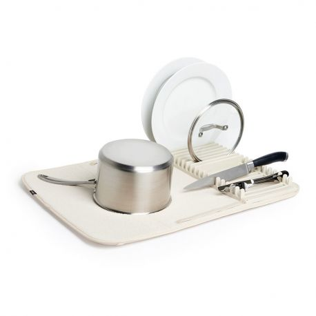 Ecru folding dish rack Umbra