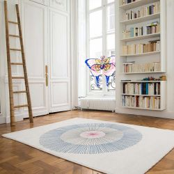 Woven rug Blue Dandelion