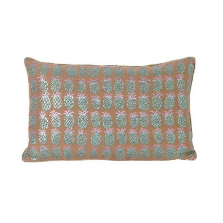 Coussin rectangulaire motif ananas