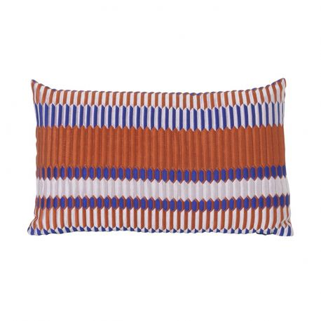 Coussin rectangulaire orange