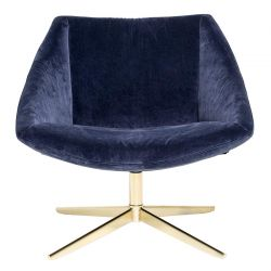 Blue armchair Velvet Bloomingville