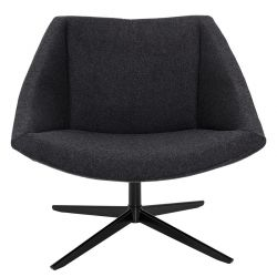 Dark grey armchair Velvet Bloomingville