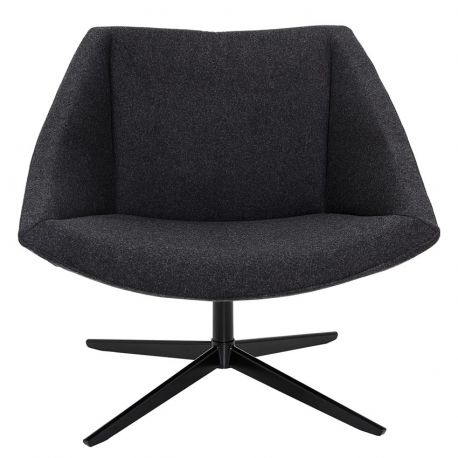 Vintage dark grey armchair