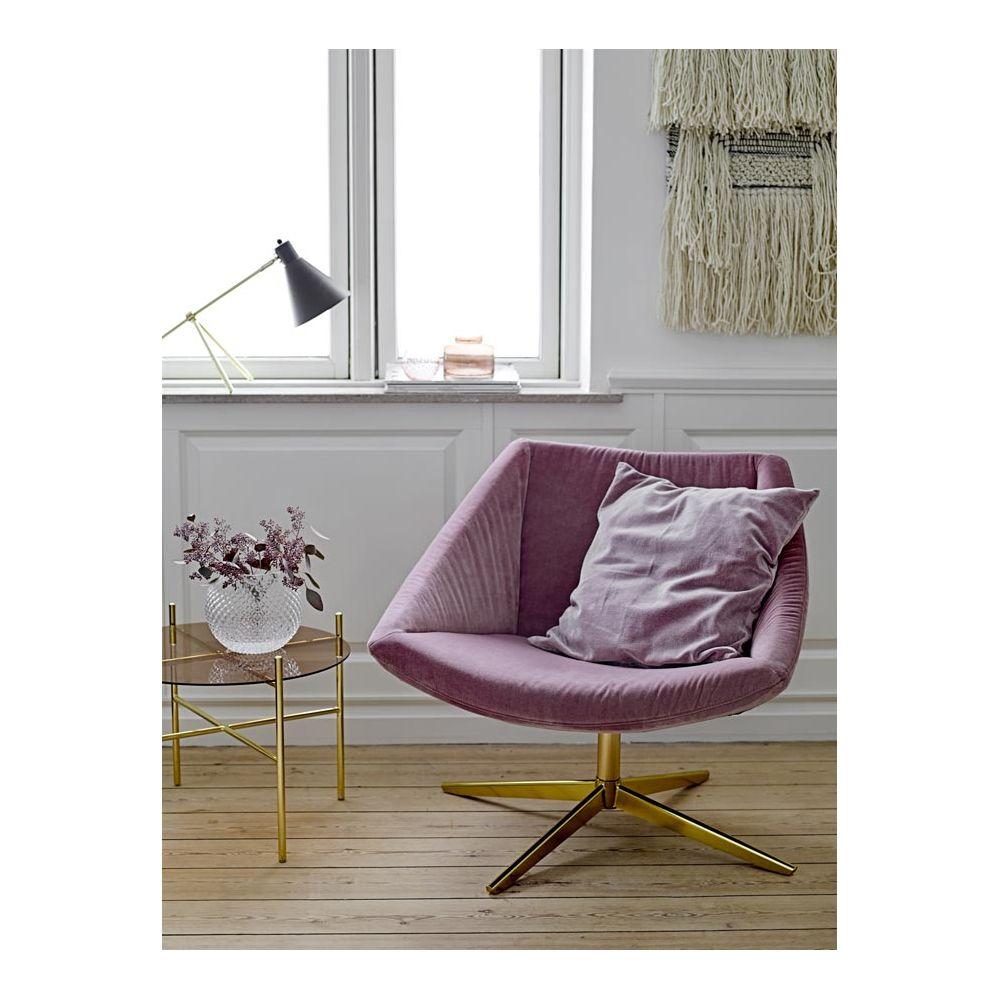 bloomingville fauteuil vintage en velours et m 233 tal dor 233