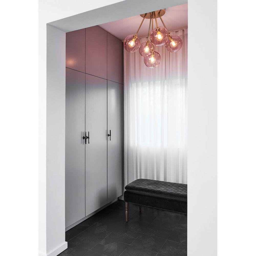 suspension multiple en verre color 5 globes ronds. Black Bedroom Furniture Sets. Home Design Ideas