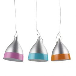 Suspended bi-coloured Cornet Lamp