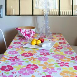 Orange Capucine tablecloth