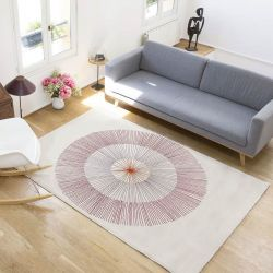 Woven rug Red Dandelion