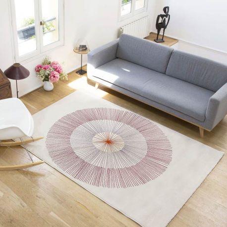 Living room woven rug