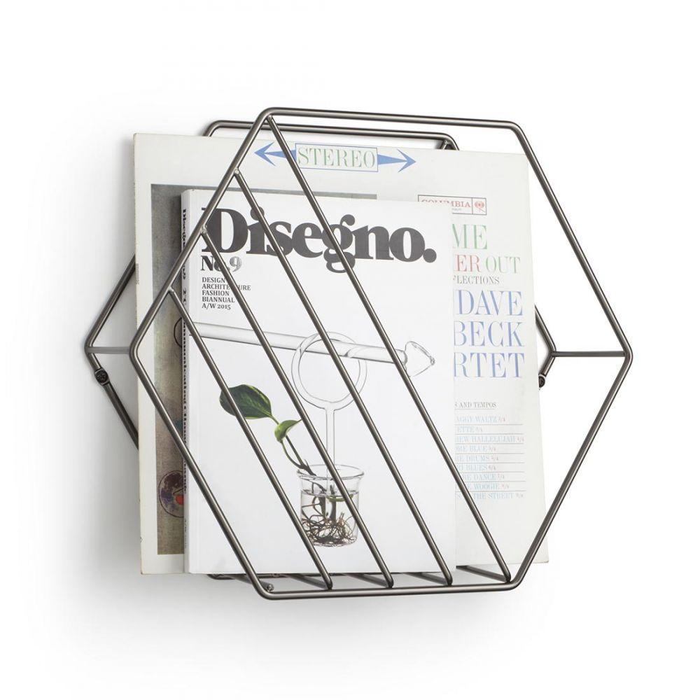 porte revue mural en m tal umbra range magazine zina. Black Bedroom Furniture Sets. Home Design Ideas