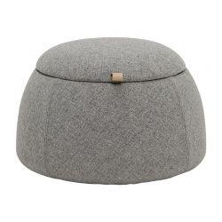Light grey pouf Bloomingville