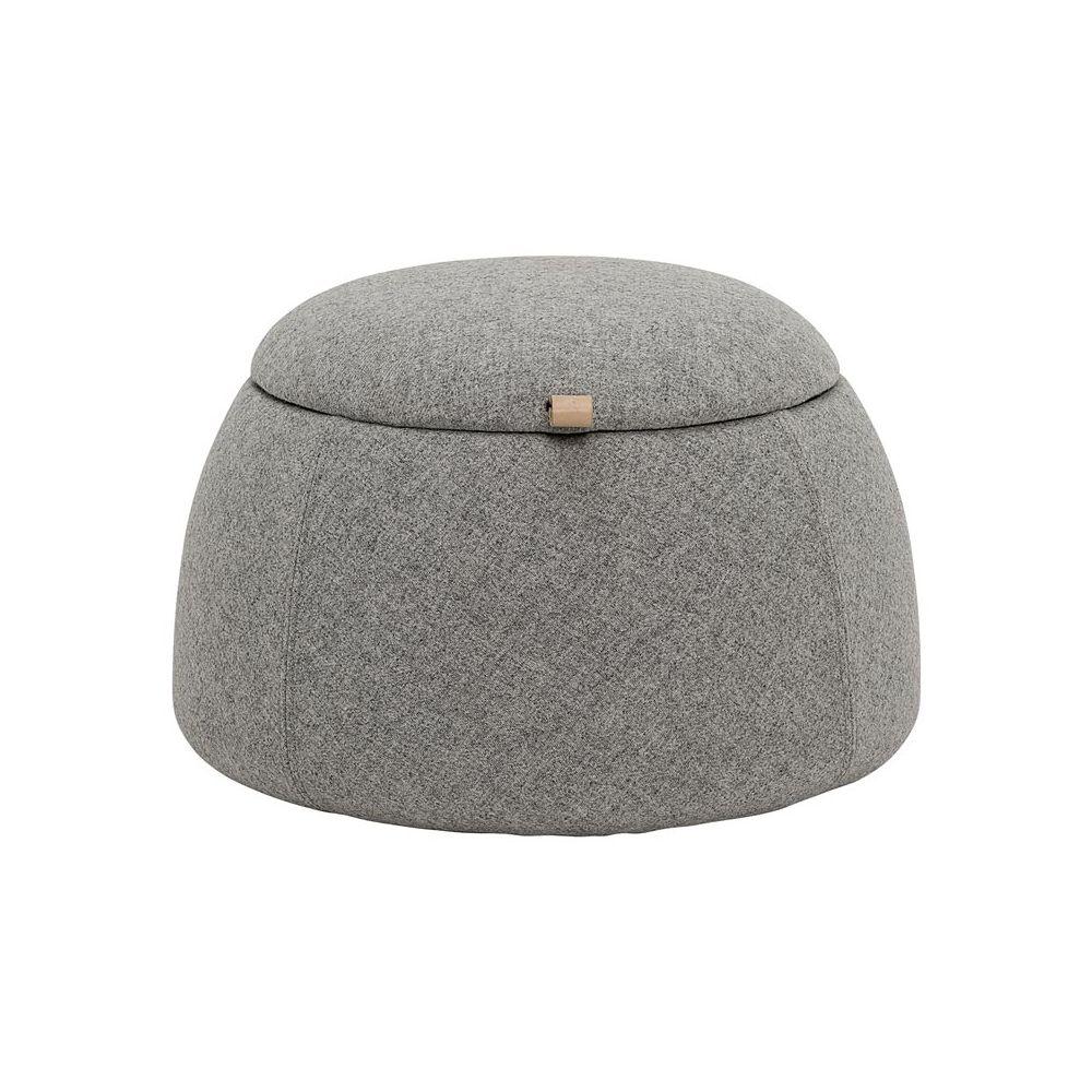 pouf coffre de rangement bloomingville pouf vintage gris rock. Black Bedroom Furniture Sets. Home Design Ideas