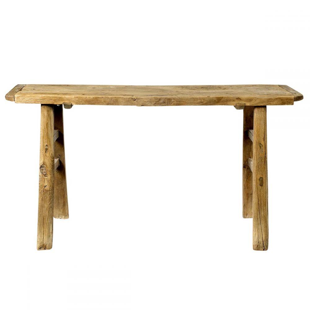 table haute bois massif d 39 orme bureau bois ancien bloomingville. Black Bedroom Furniture Sets. Home Design Ideas