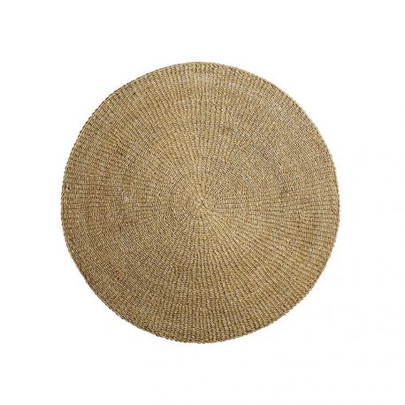 Round seagrass rug 120