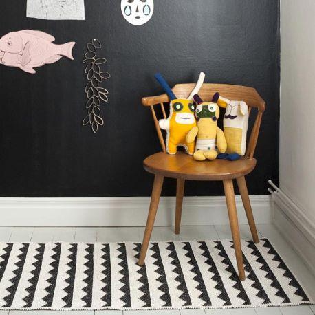 Scandinavian black and white rug