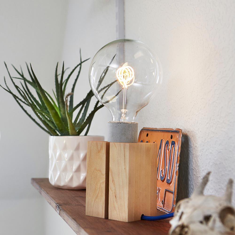 Massif Bois Socle Lampe Nud En Pour q4Lc3Aj5R