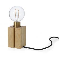 Socle en bois massif pour lampe Nud