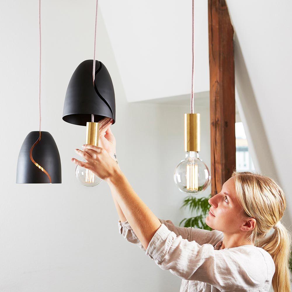 petit abat jour design en m tal pour suspension nud collection. Black Bedroom Furniture Sets. Home Design Ideas