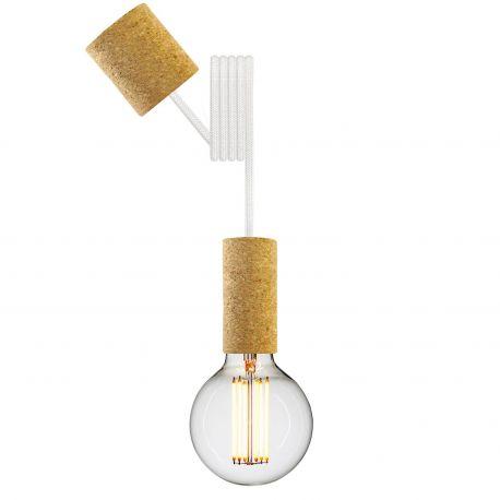 Cork pendant white cord