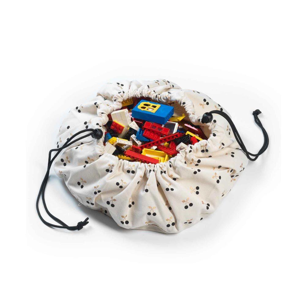 sac de rangement en tissu lien coulissant mini cherry. Black Bedroom Furniture Sets. Home Design Ideas