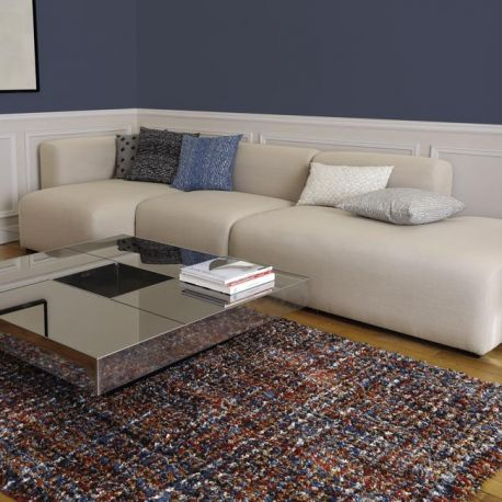 Multicolored rug for living room