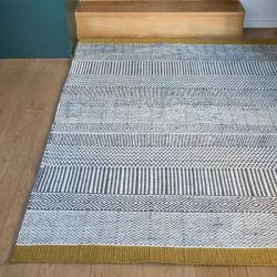 Tryptik rug grey and yellow Edito