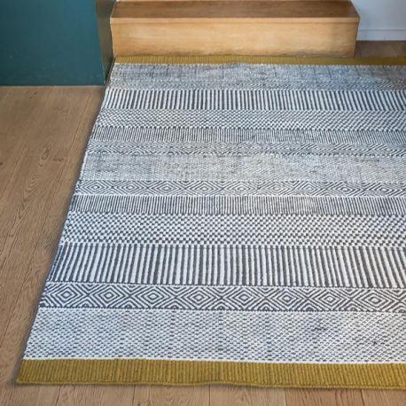 Colored ethnic rug