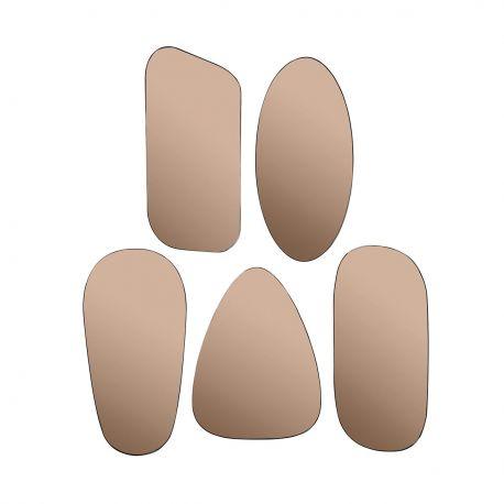 Miroirs teintés cuivres
