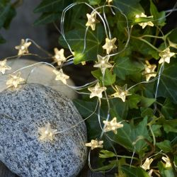 Battery operated stars light strings