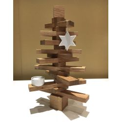 Sapin de Noël en bois massif