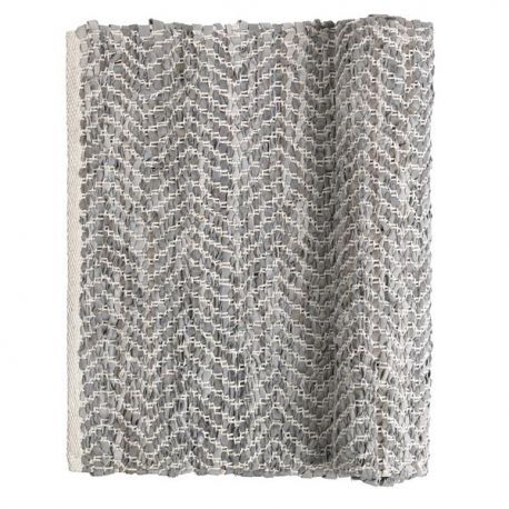 Light grey ZigZag rug