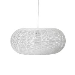 White paper hanging lamp Bloomingville