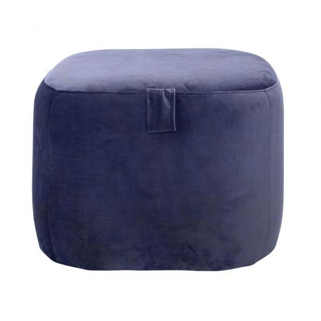 Blue square pouf