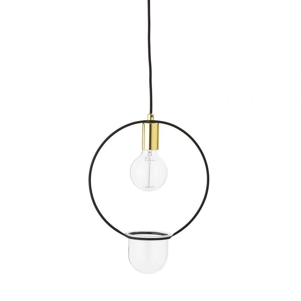bloomingville suspension luminaire plante avec cache pot chez pure deco. Black Bedroom Furniture Sets. Home Design Ideas