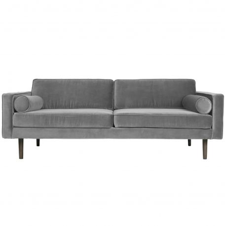 Light grey velvet sofa