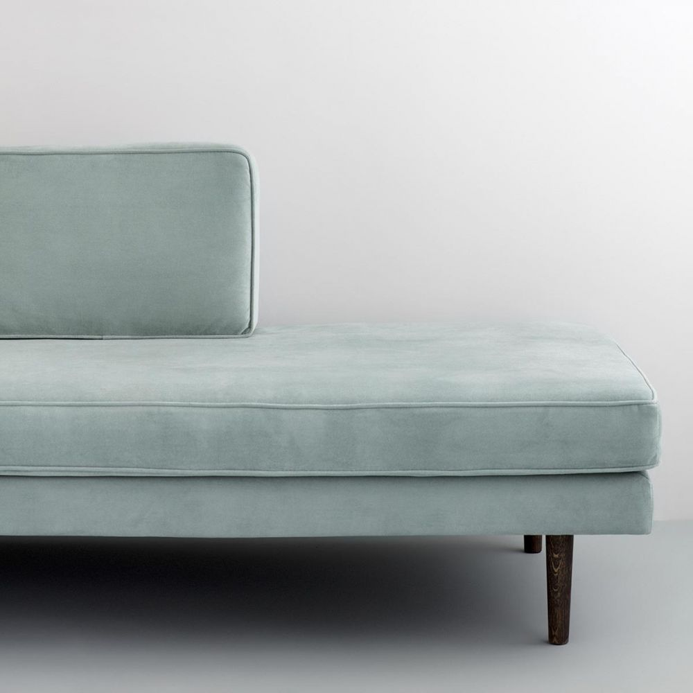 Astounding Wind Velvet Chaise Lounge Broste Copenhagen Gmtry Best Dining Table And Chair Ideas Images Gmtryco
