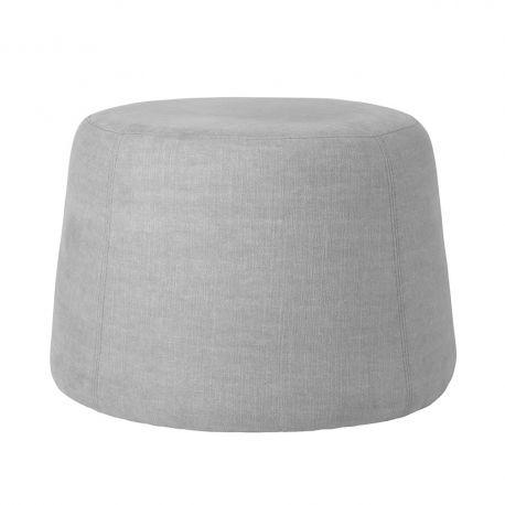 Pouf en tissu gris