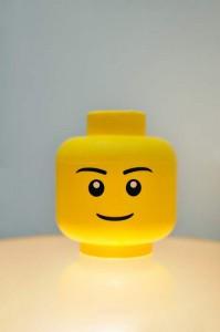 Tete de rangement lego modèle garçon