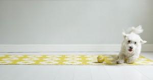 tapis_plastique_brita_sweden_flower_jaune