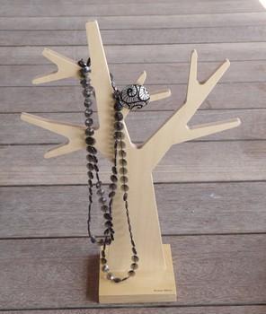 Arbre a bijoux bois naturel