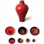 Vase ming ibride rouge